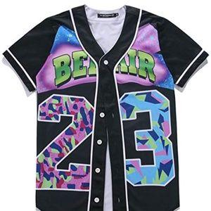 HOP FASHION Unisex Baseball Jersey Short Sleeve
